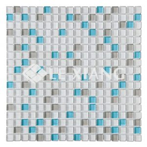 15mm Blends Square Colorful Crystal Glass Mosaic Tile Backsplash Tile-2