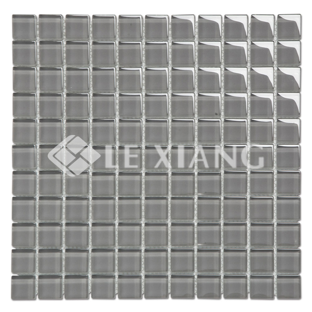 25mm Square Crystal Glass Blue Mosaic Tile Backsplash