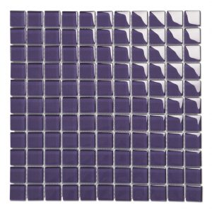 25mm Square Crystal Glass Blue Mosaic Tile Backsplash-9