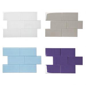3X6inch Crystal Glass Brick Tile For Bathroom Wall Mosaic Tile-22