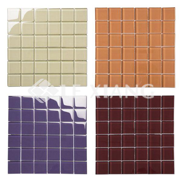 48mm Square Crystal Glass Mosaic Backsplash Tiles-1