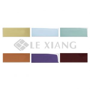 4X12inch Crystal Glass Brick Mosaic Tiles For Kitchen Backsplash-1