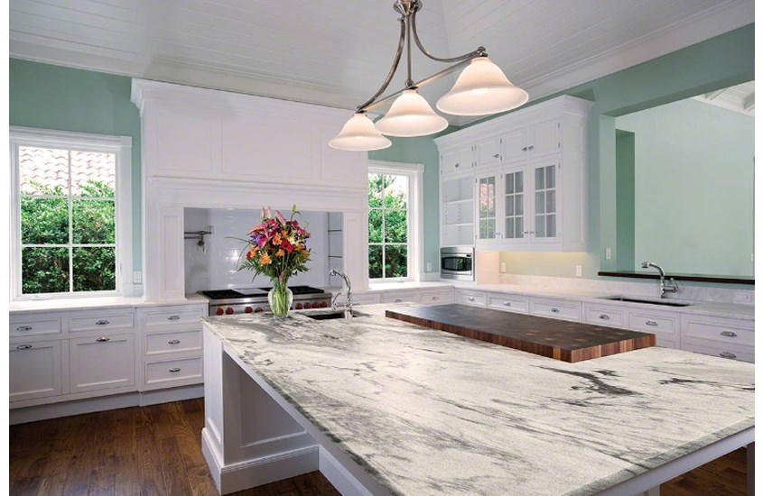 American Augusta White Marble Countertops For Kitchen-4