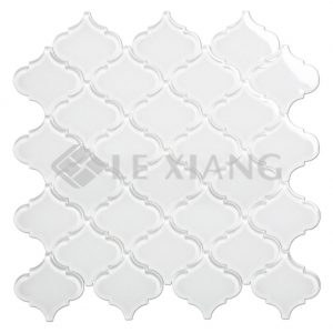 Arabesque Crystal Glass Mosaic Tile For Bathroom Wall And Floors