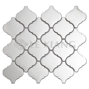 Arabesque Stainless Steel Mosaic Tile For Bathroom Background Wall-1