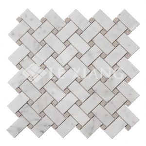 Basket weaveing Stanza Stone Mosaic Tile For Home Flooring-1