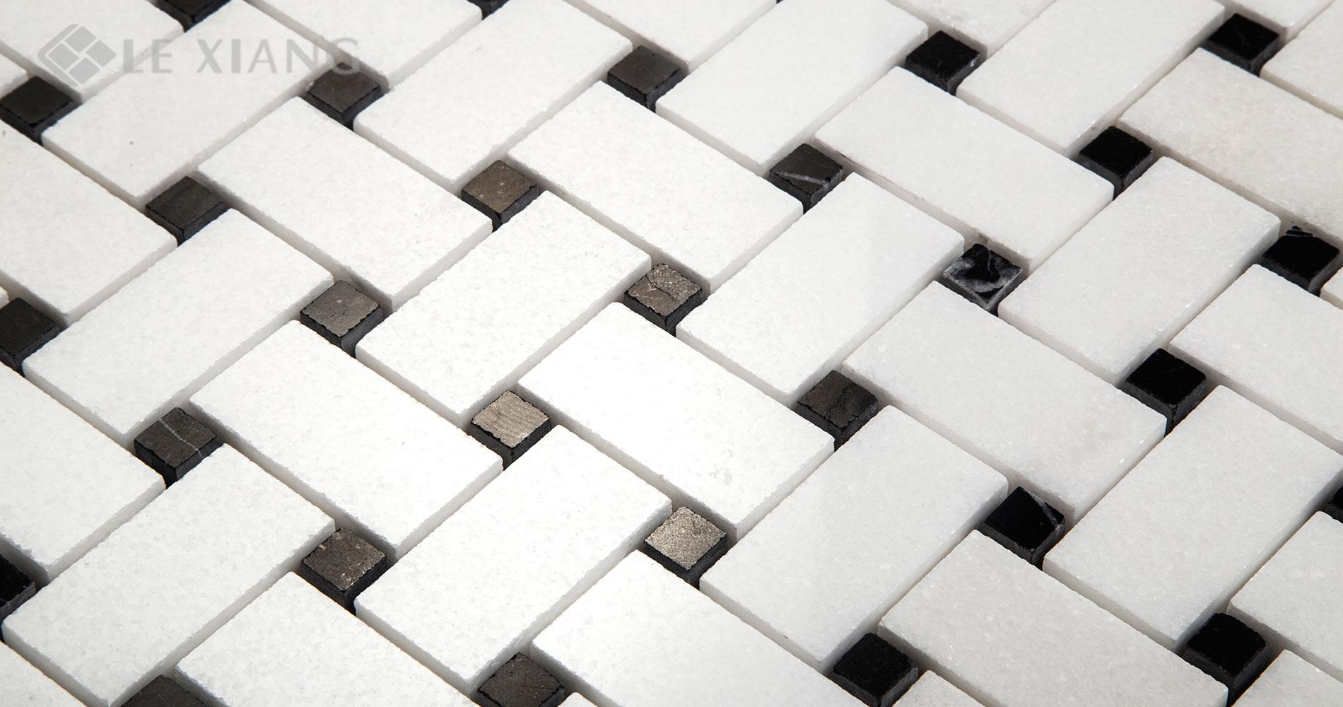 Basketweaveing-White-Thassos-Marble-Mosaic-For-Bothroom-Floors-3