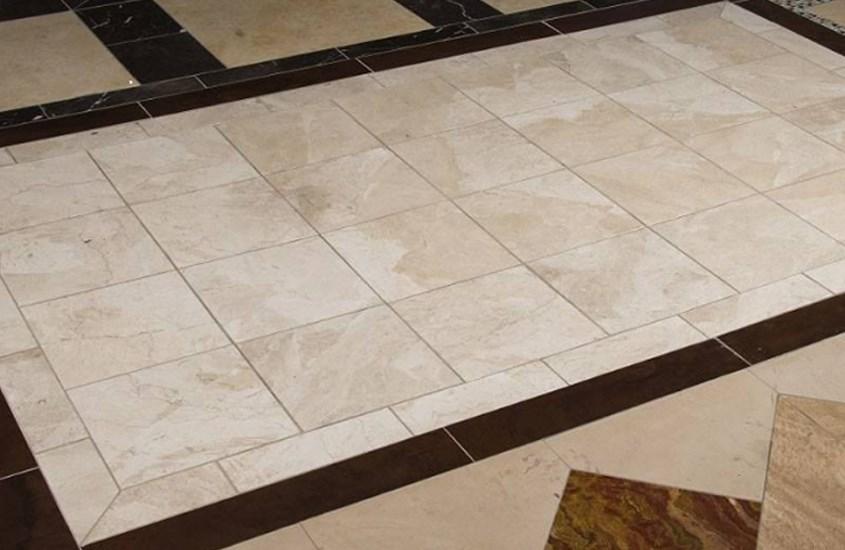 Beige Turkish New Diana Reale Polished Marble Kichen Flooring