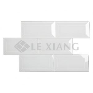Beveled Crystal Glass Brick Moasic Tile Collection For Bathroom Wall 3inchx6inch-1
