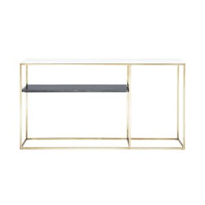Bistratal Grey And White Marble Console Table-8
