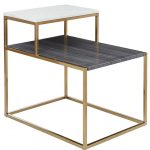Bistratal Grey And White Marble Side Table-9