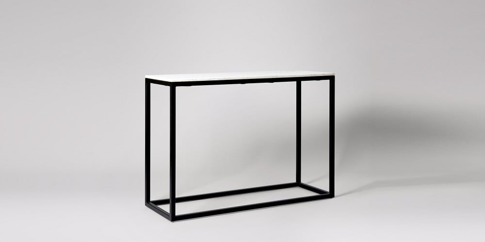 Black Steel Frame Marble Console Table