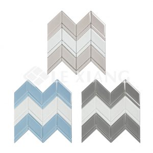 Blends Chevron Kitchen Backsplash Crystal Glass Mosaics Tile-4