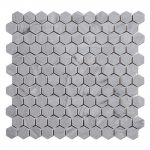 Blue Hexagon Stone Mosaics Tiles Bathroom Floors-2