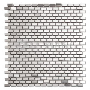 Brick Kitchen Bachsplash Stainless Steel Mosaic Tile-1