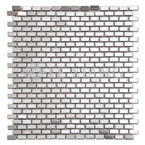 Brick Kitchen Bachsplash Stainless Steel Mosaic Tile-1
