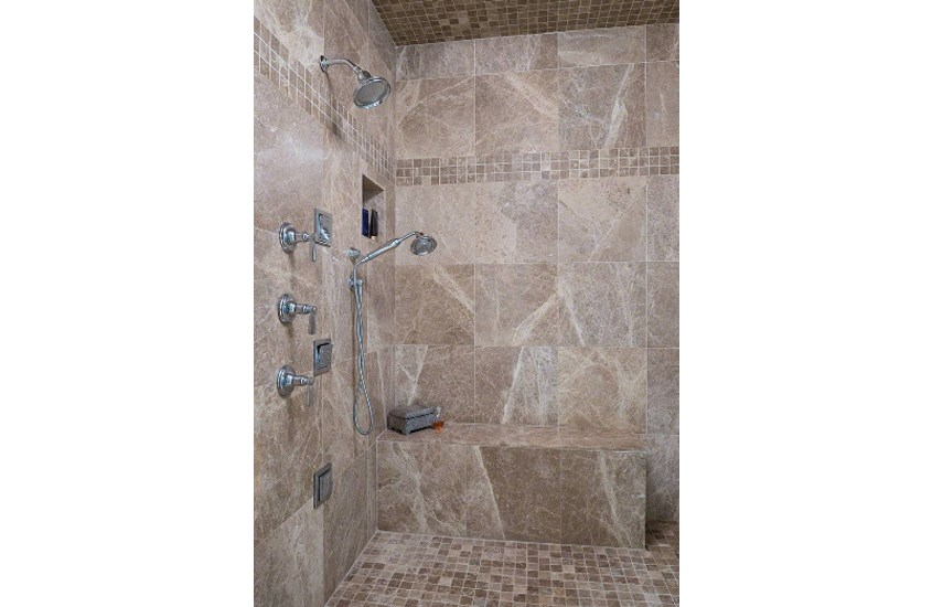 Brown Emperador Light Turkish Marble Wall Tiles For Living