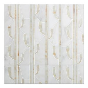 Cactus Water Jet Marble Mosaic Tile For Wall-1