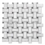 Carrara Basketweave Marble Mosaic Tile For Kitchen Backsplash-1
