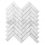 Carrara Herringbone Stone Mosaic Tiles For Bathroom Floors-3