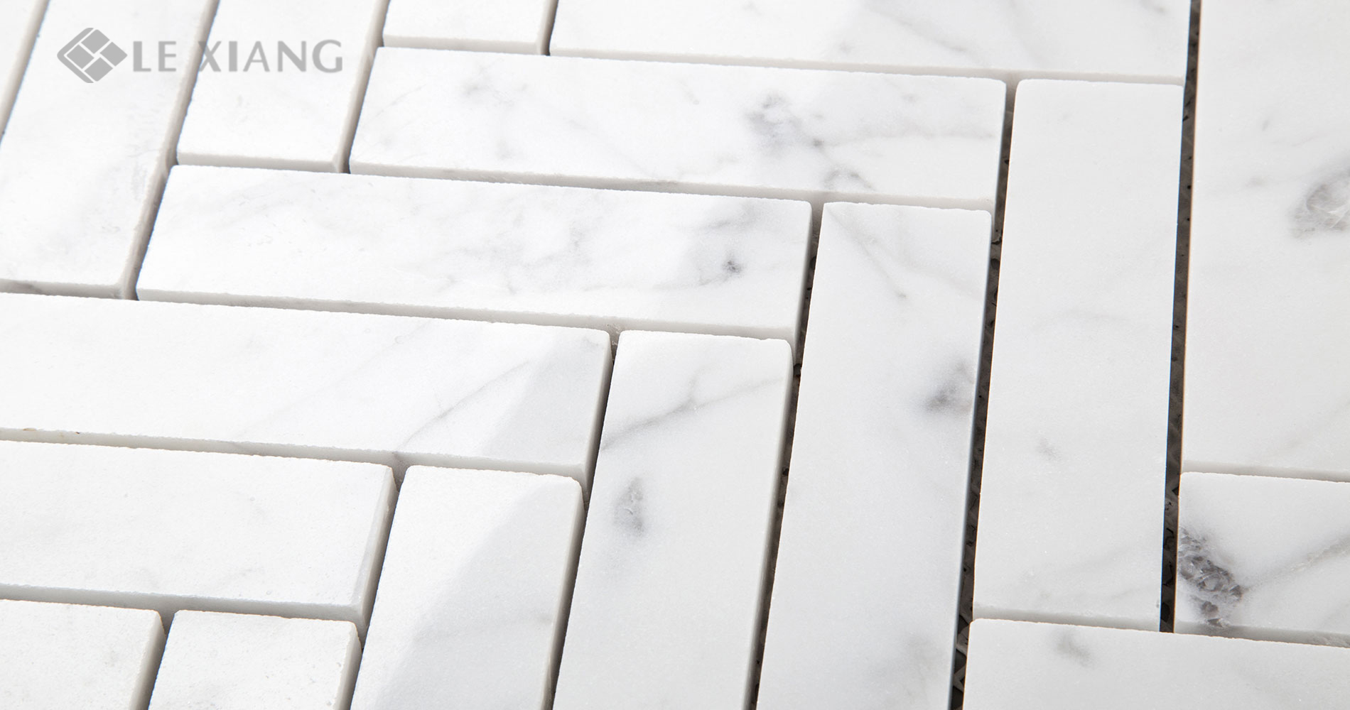 Carrara-Herringbone-Stone-Mosaic-Tiles-For-Bathroom-Floors-7