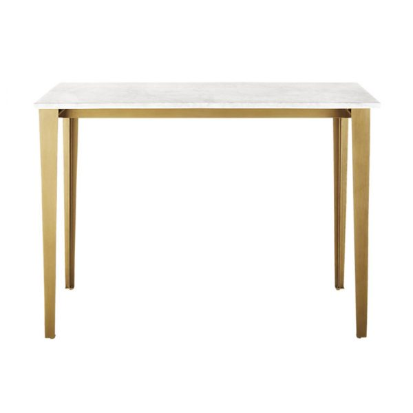 Carrara Marble Top High Dining Table-6