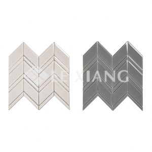 Chevron Crystal Glass Mosaics Tile For Kitchen Backsplash-3