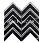 Chevron Pattern Marble Mosaic Tile Bothroom Floors Kitchen Backsplash 1-2