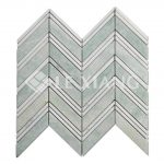 Chevron Pattern Marble Mosaic Tile Bothroom Floors Kitchen Backsplash 1-3