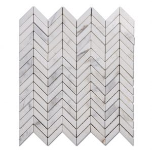 Chevron Pattern Marble Mosaic Tile Bathroom Floors Kitchen Backsplash 3-1