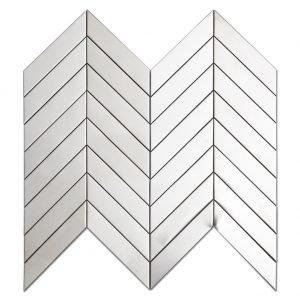 Chevron Stainless Steel Mosaic Tile Kitchen Backsplash 1-1