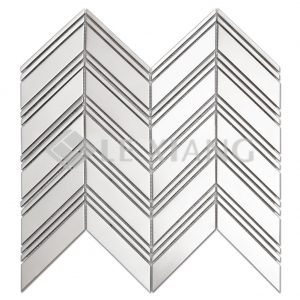 Chevron Stainless Steel Mosaic Tile Kitchen Backsplash 2-1