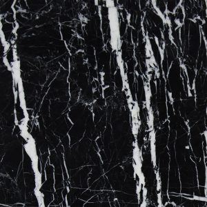China Black With White Vein Marble For Hall Flooring-1