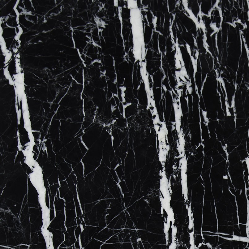 China Black With White Vein Marble For Hall Flooring