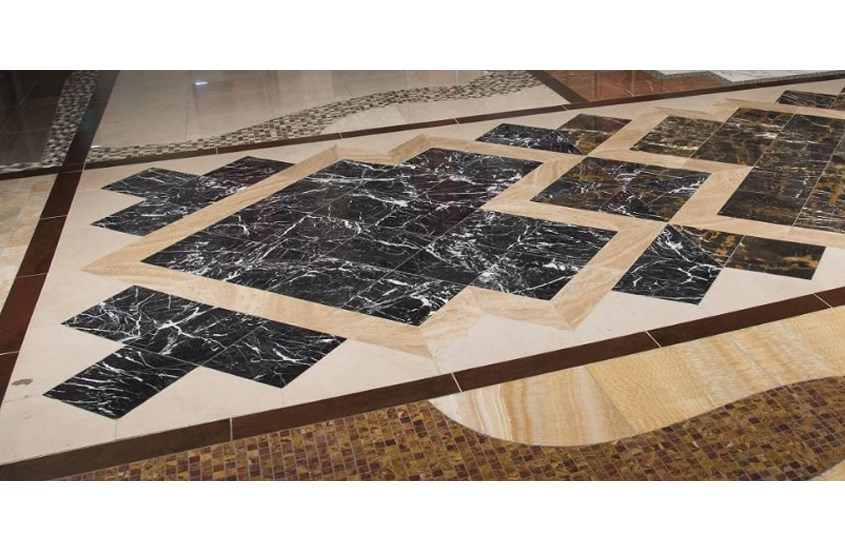 China Black With White Vein Marble For Hall Flooring 5