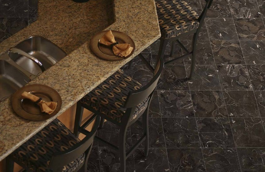 China Brown Emperador Cafe Polished Marble Flooring Tiles 2