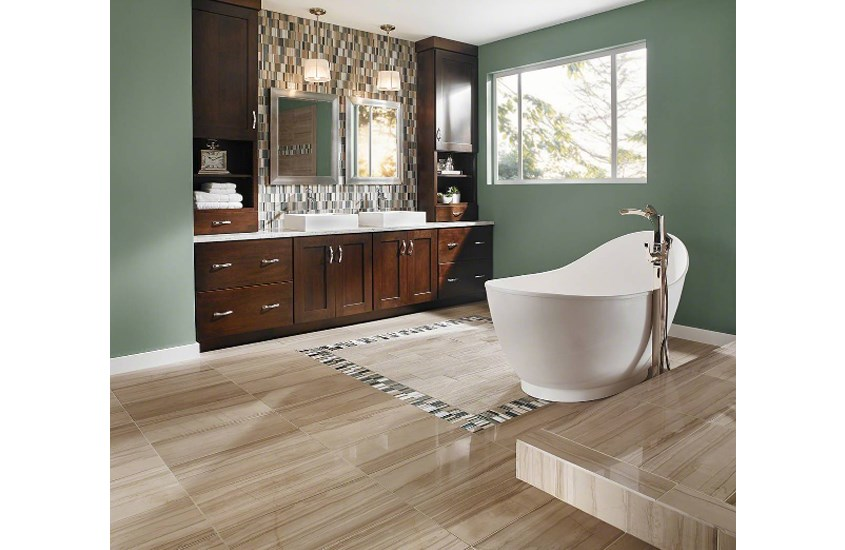 China Honed Gray Oak Marble Bathroom and Bedroom Flooring 2