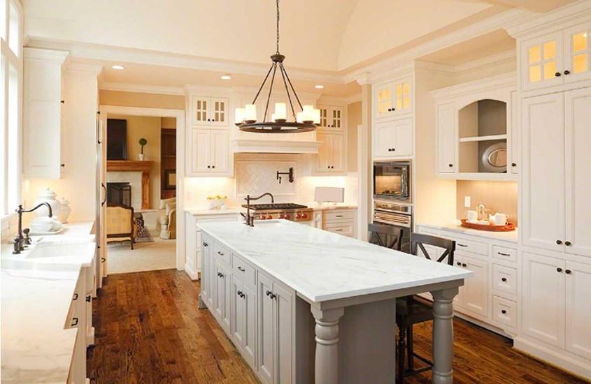 China White Arabescato Venato Marble Kitchen Counter Tops 4