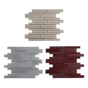 Colorful Strip Crystal Glass Mosaic Tile 5-1