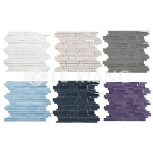 Colorful Strip Crystal Glass Mosaic Tile 6-7