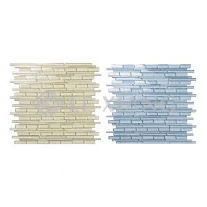 Colorful Strip Crystal Glass Mosaic Tile 7-1