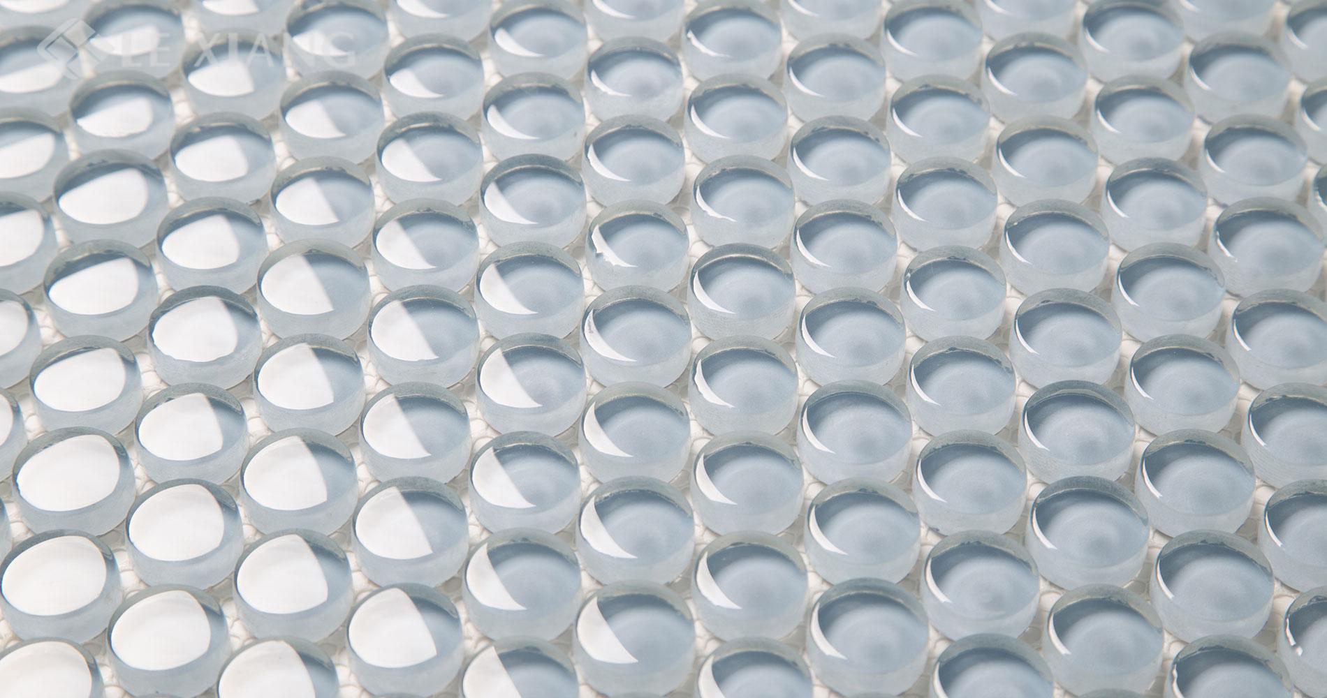 Crystal Glass Penny Round Mosaic Tile Kitchen Backsplash