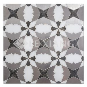 Dialectics WaterJet Cut Marble Mosaics Tile Bathroom Floors Kitchen Backsplash-1