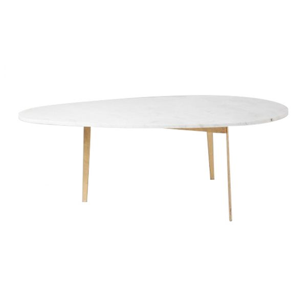 Drops White Marble Coffee Table-1