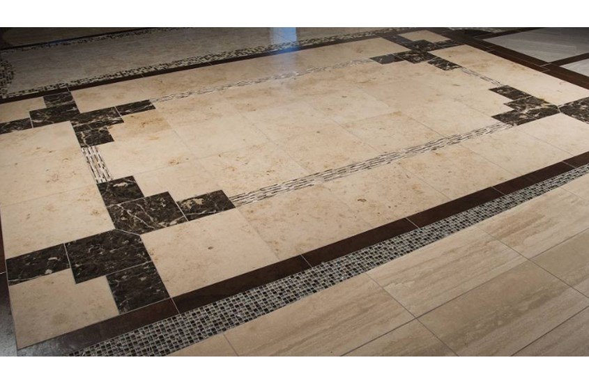 Emperador Dark Spanish Marble Bathroom Floor and Wall Tiles 11