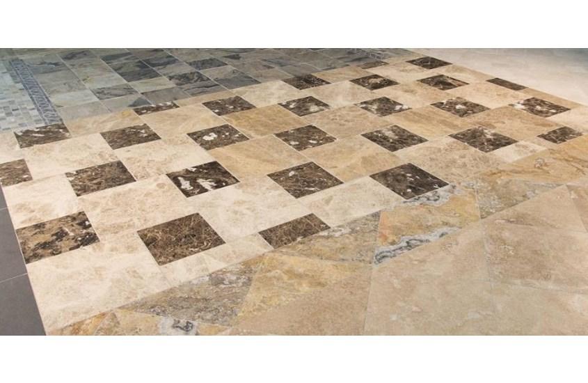 Emperador Dark Spanish Marble Bathroom Floor and Wall Tiles 9