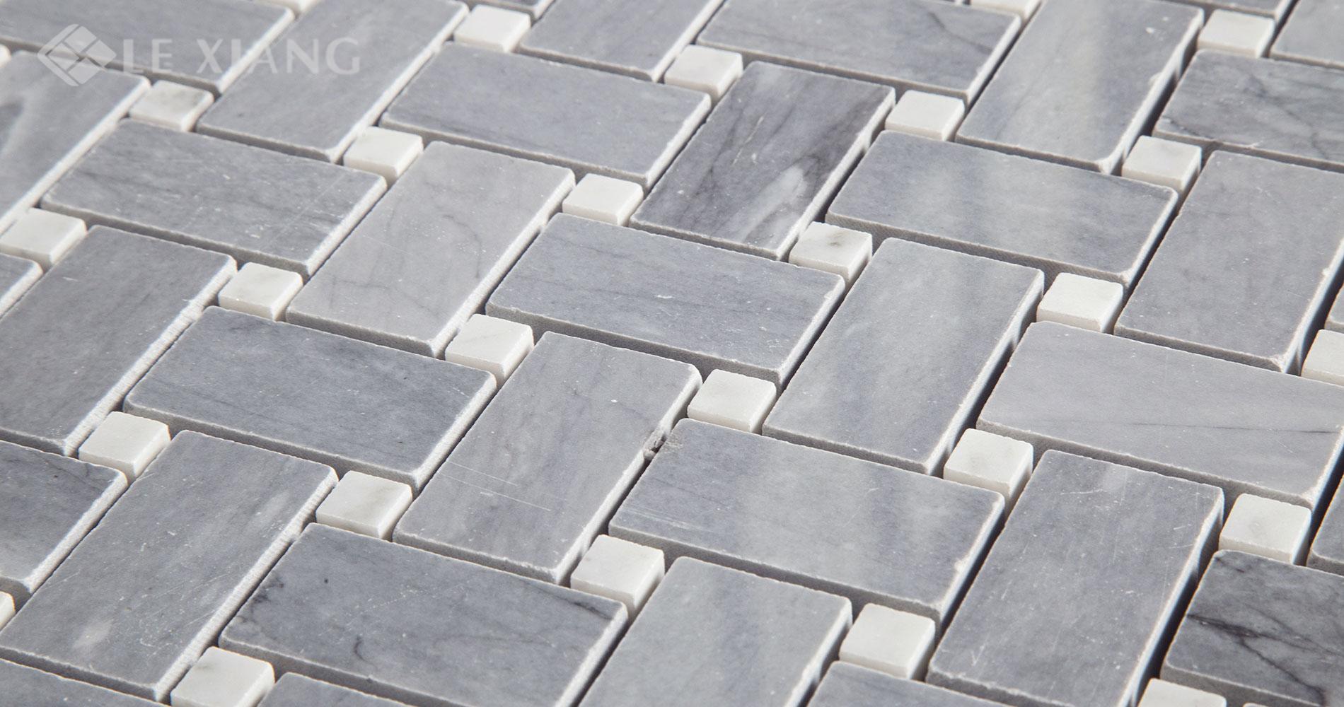 Gray-Marble-Basketweave-Mosaic-Tile-Kitchen-Backsplash-Gray-3