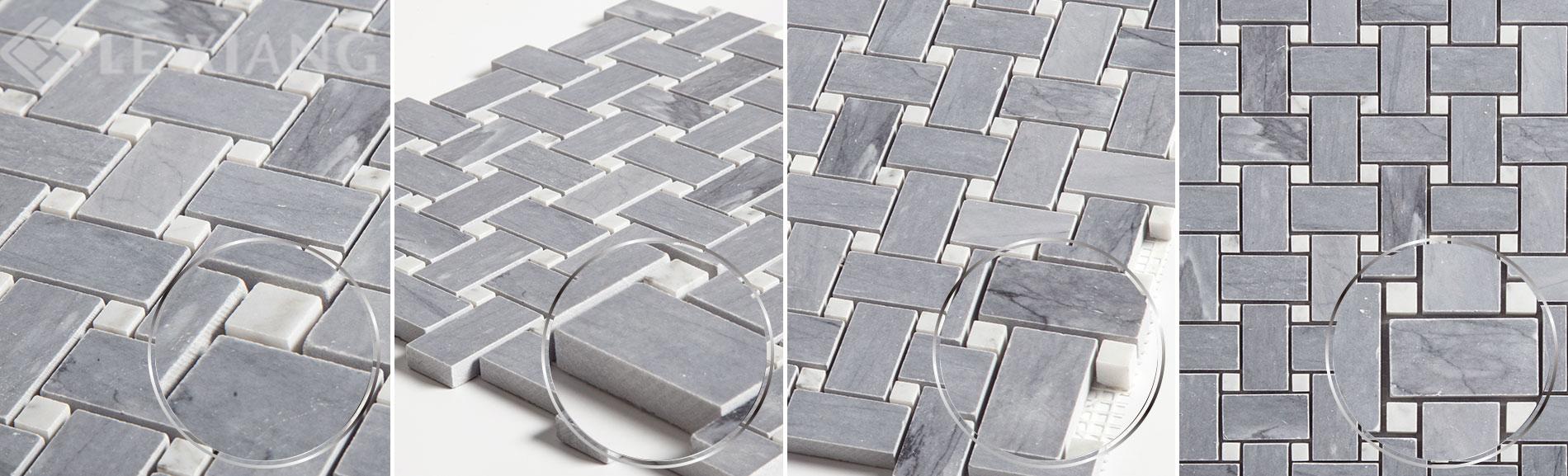 Gray-Marble-Basketweave-Mosaic-Tile-Kitchen-Backsplash-Gray-4