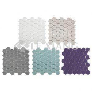 Hexagon Crystal Glass Mosaic Tiles For Bathroom Wall-6