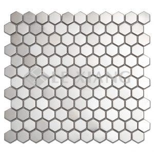 Hexagon Stainless Steel Mosaic Tile Kitchen Backsplash-1